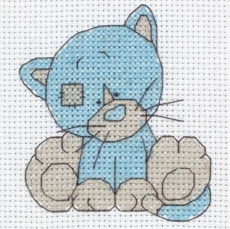 image of Kittiwink - My Blue Nose Friends Cross Stitch Starter Kit