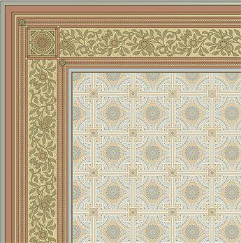 Ceiling Corner Sample - B.J. Talbert room - Bradbury & Bradbury Wallpaper #bradburywallpaper