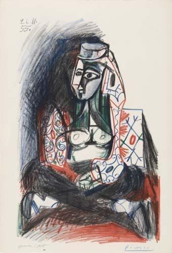 Peinture Algérie - Pablo Picasso, Femme d'Alger, 1955