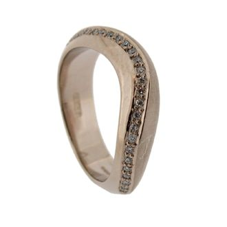 Pulse ring in white gold with diamonds