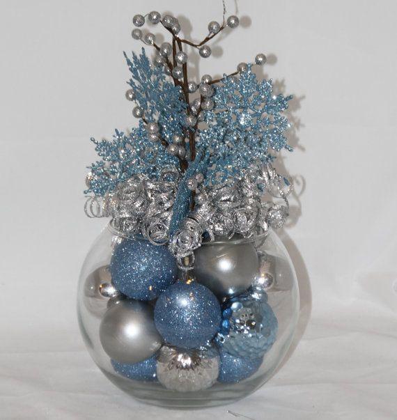Best ideas about blue christmas decor on pinterest