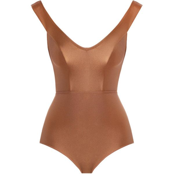 ZIMMERMANN Tulsi Off Shoulder One Piece Swimsuit (£215) ❤ liked on Polyvore featuring swimwear, one-piece swimsuits, swimsuit, tops, bikinis, swim, one piece bathing suits, swim suits, 1 piece bathing suits and bikini swimsuit
