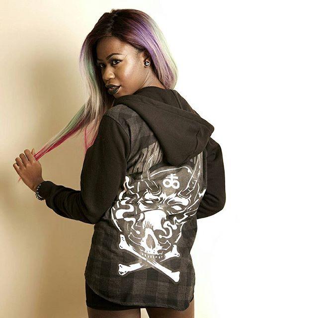 "CRMC X Julian Akbar ""Satan's Waitin'"" Checked Raglan Hood Available at www.crmc-clothing.co.uk | WE SHIP WORLDWIDE Model - The Hot Cocoa Photography by Pix Elation #vixen #raindowhair #pastelhair #alternative #pastelgoth #fashionstatement #pastelgothgirl #hairenvy #fashionista #fashion #fashionblogger #alternativeblackgirl #blackmodel #cute #need #beautiful #fashionblog #darkwear #lingerie #alternativegirl #alternativeteen #blackwear #ilovewearingblack #iloveblack #love #loveblack"