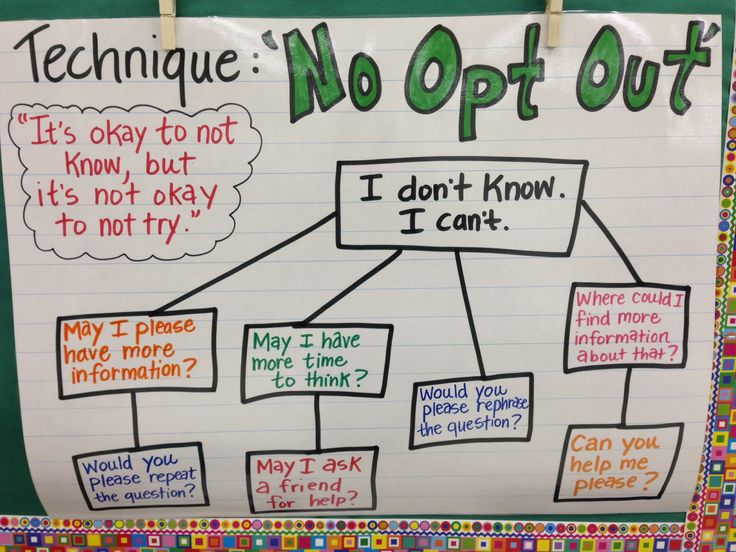 Teach Like A Champion Anchor Charts (Technique #1: No Opt Out)
