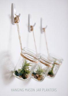 Make It: DIY Hanging Mason Jar Planters