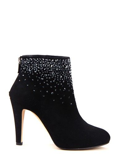 Belle jewel suede ankle boots