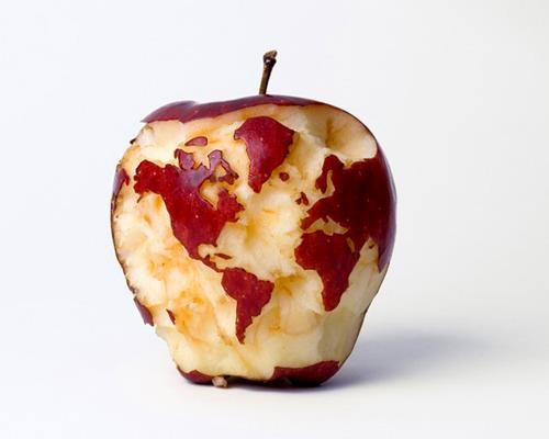 Creative..: Vans Aelst, Apples Globes, Apples Art, Big Apples, World Maps, Things, Food Art, Foodart, Worldmap