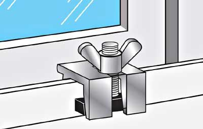 ways to make your windows and doors secure during nice weather when you want to have them cracked.
