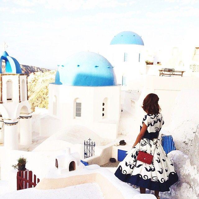 View of #Santorini! #ArtMaisons Photo credits:  @thefierce_nay