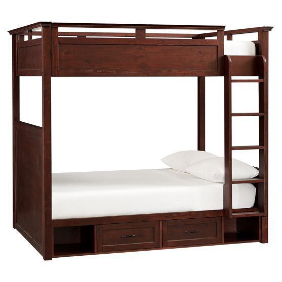 """Hampton Bunk Bed- PB teen Full Over Full Overall: 60.25"""" wide x 83"""" long x 76.5"""" high $1,999 Delivery Surcharge: $200"""