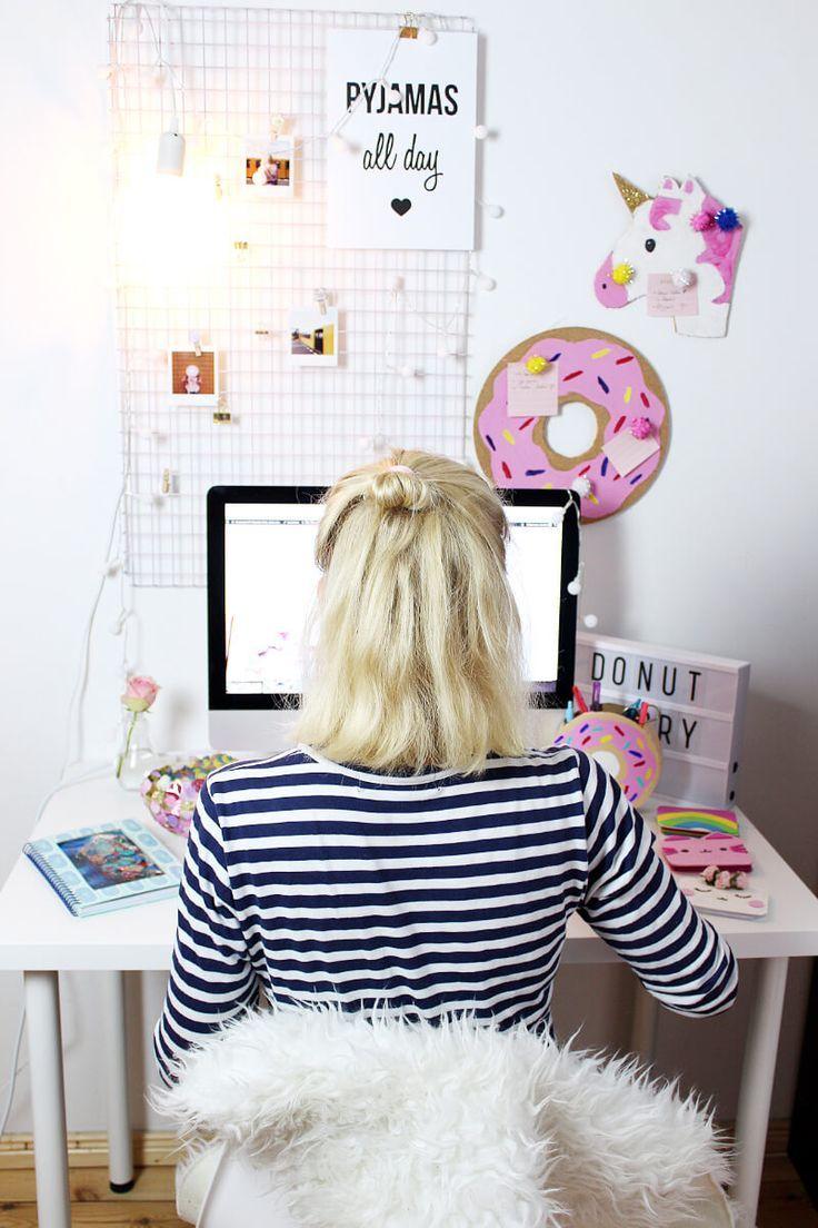 Exquisit Schreibtisch Diy Dekoration Von Fotowand Selber Machen & Deko Basteln |