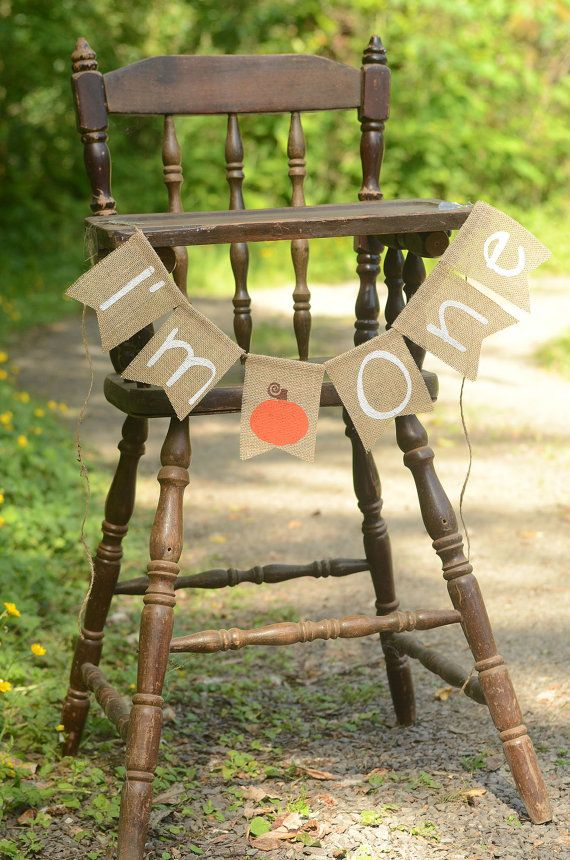 I'm One pumpkin high chair banner I Am One by HannahsCorner2