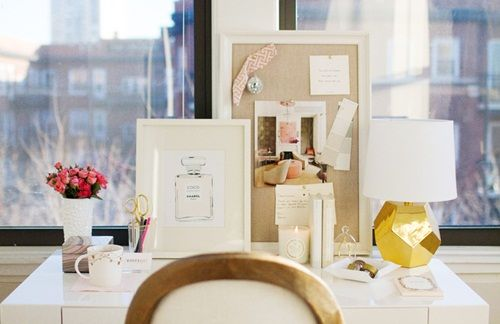 workspace: glam, pink & gold | Daily Dream Decor