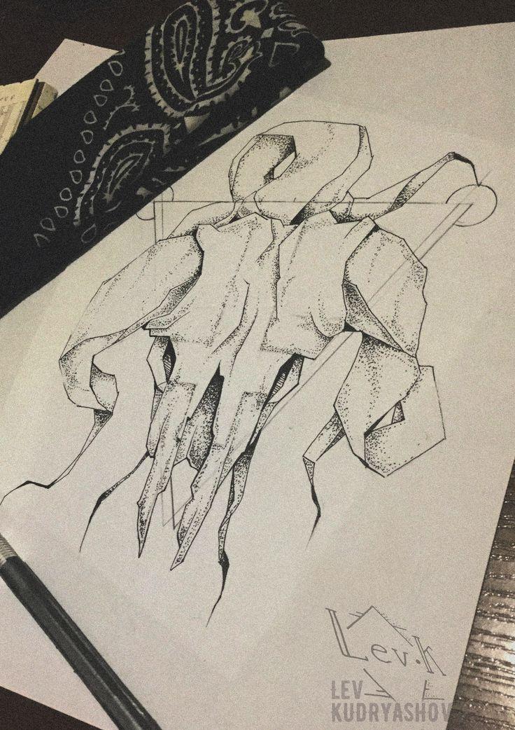 Тату эскиз\ Tattoo sketch арт art череп skull dotwork ram баран