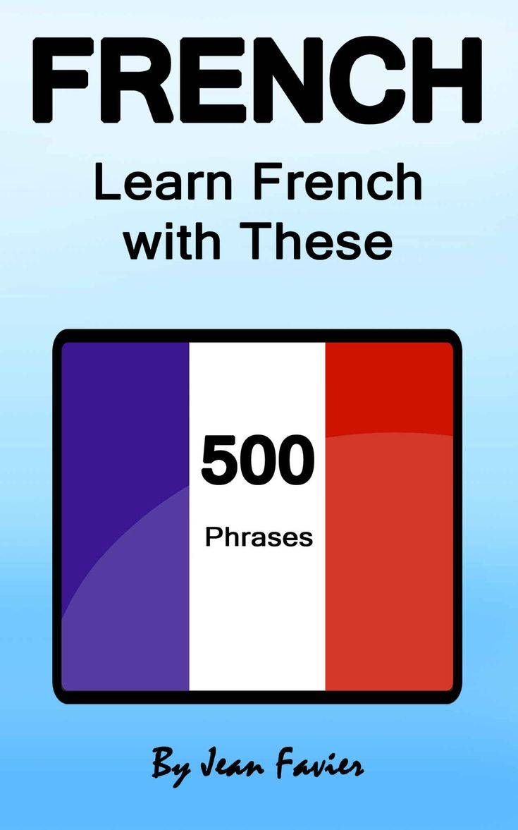 French: Learn French with These 500 Phrases (French Language, Speak French, Learning French, France, - Books