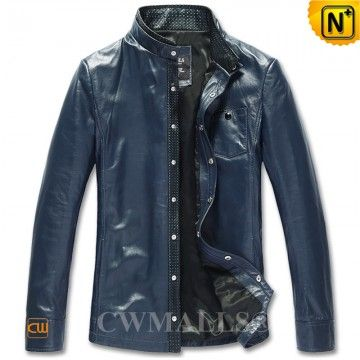 Mens Leather Shirt CW807011 www.cwmalls.com