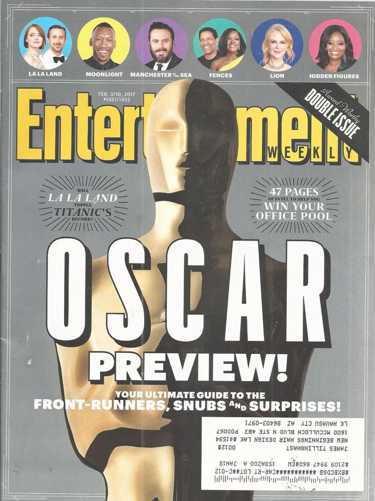 Oscar PreviewMoonlight LaLa Land Lion Entertainment Weekly February 3/10 2017    #DoesNotApply