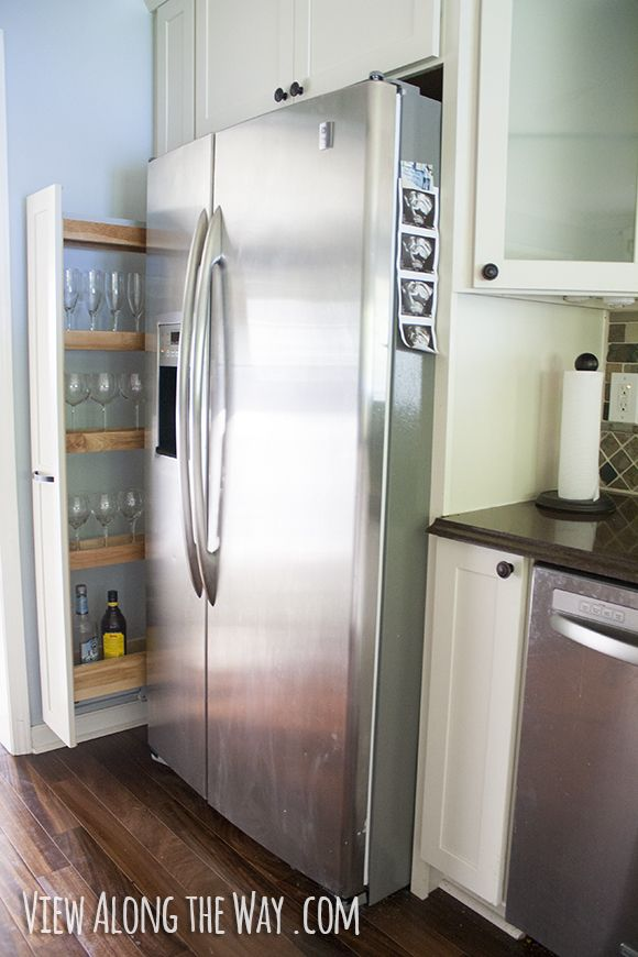 Tall, thin cabinet for alcohol storage, and lessons learned from a kitchen remodel