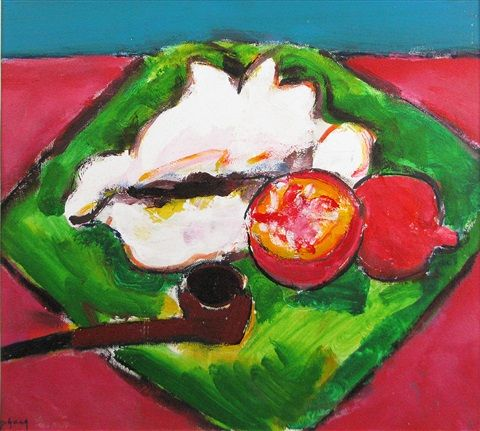 Still Life with Pomegranates by Ion Pacea