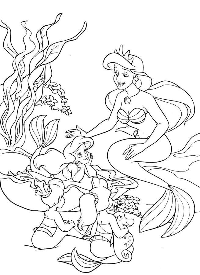 Зачарованный мир: Русалочка - раскраски с персонажами ...