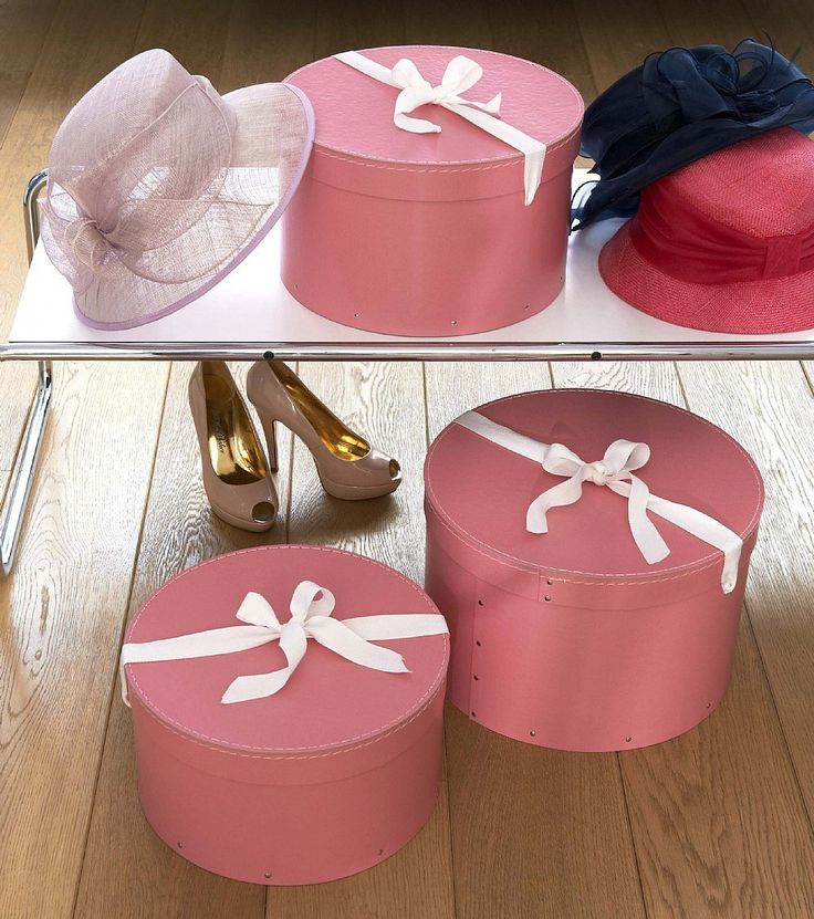 In Sturdy Recycled Fibreboard And Tied At The Top With Calico Ribbons, This Hat  Box Is Super Stylish Storage For Hats. Donu0027t Need Hat Storage?