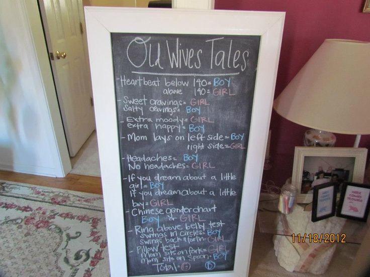 Gender reveal idea: gender old wives tales
