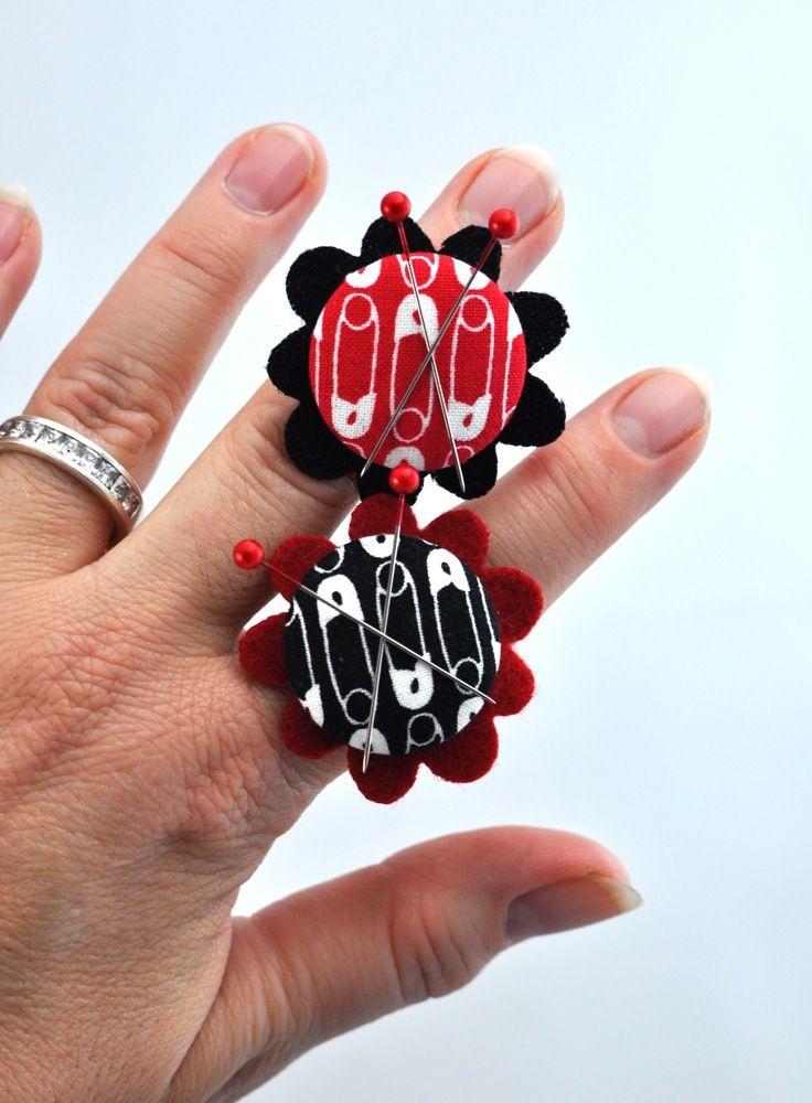 Diy Magnetischer Ring als Nadelkissen ! Sew we quilt: Magnetic Button Ring Tutorial