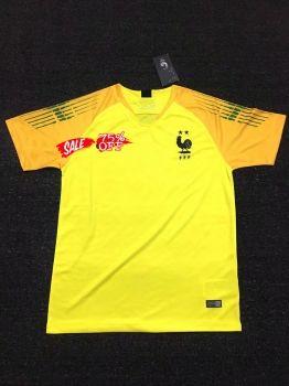 2018 Cheap Goalie Jersey France 2 Stars Yellow Replica Soccer Shirt  DFC107  57f883597
