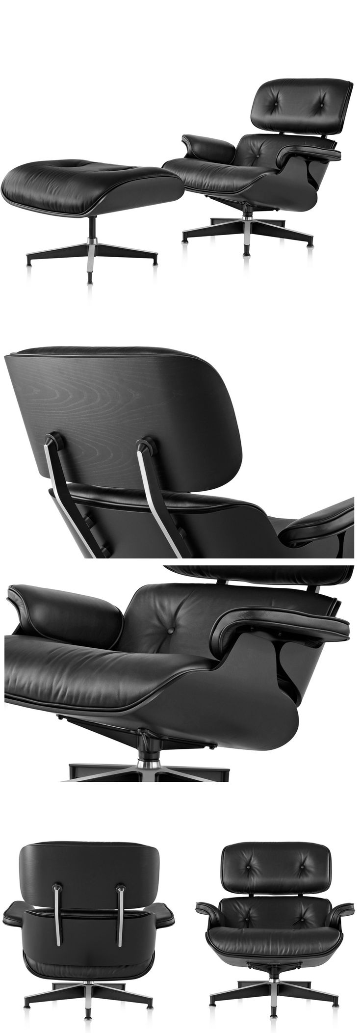 Happy New Year From The Eames Office With an Ebony Eames Lounge Chair and Ottoman by @hermanmiller