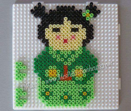 Kokeshi en perles Hama – Petites poupées japonaises en perles à repasser