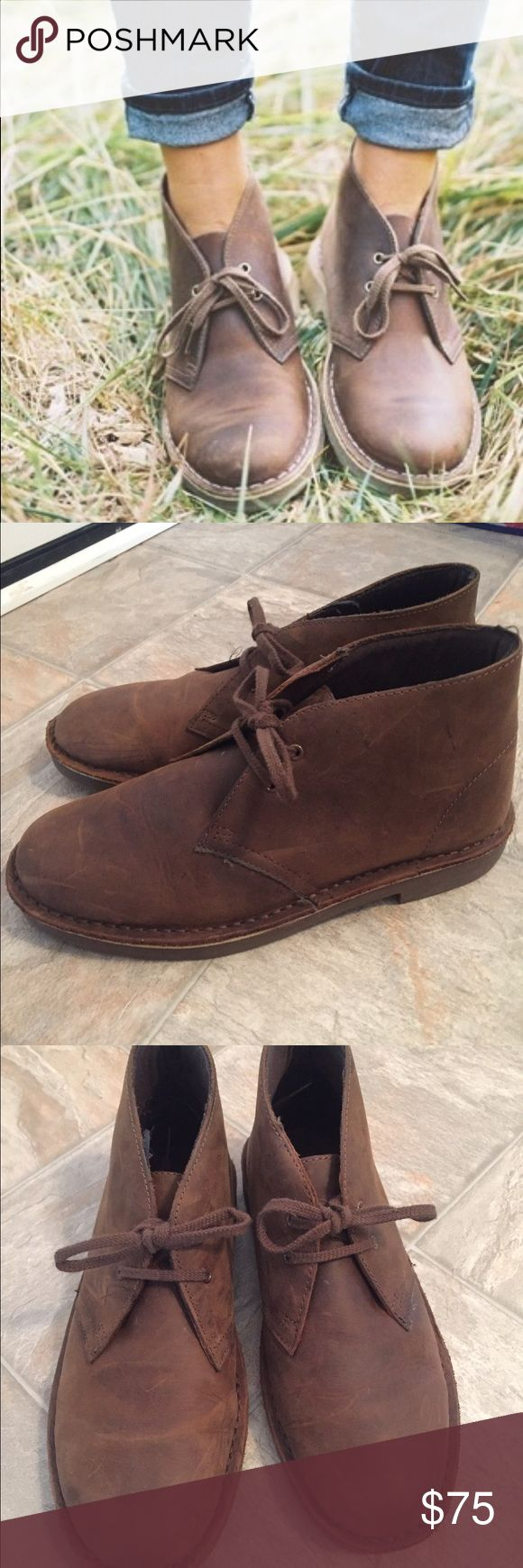 Clark's Desert Boots Women Size 9 These are Clark's Desert Boots for women and they are size 9. I wear a 9 1/2 normally but they still fit well. They're basically brand new and have only been lightly worn. They're super cute to wear with skinny jeans or leggings or however you like! Definitely a cool hipster vibe. Clarks Shoes Ankle Boots & Booties