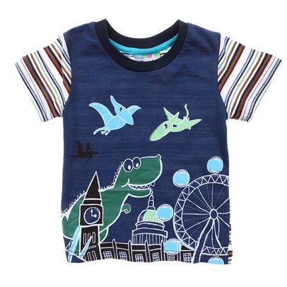 Navy Dinosaur Tshirt-AJ65077-navy $15.00 on Ozsale.com.au