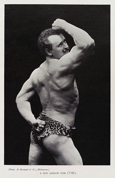 "File:""A New Sandow Pose (VIII)"", Eugen Sandow Wellcome L0035270 - restoration.jpg"