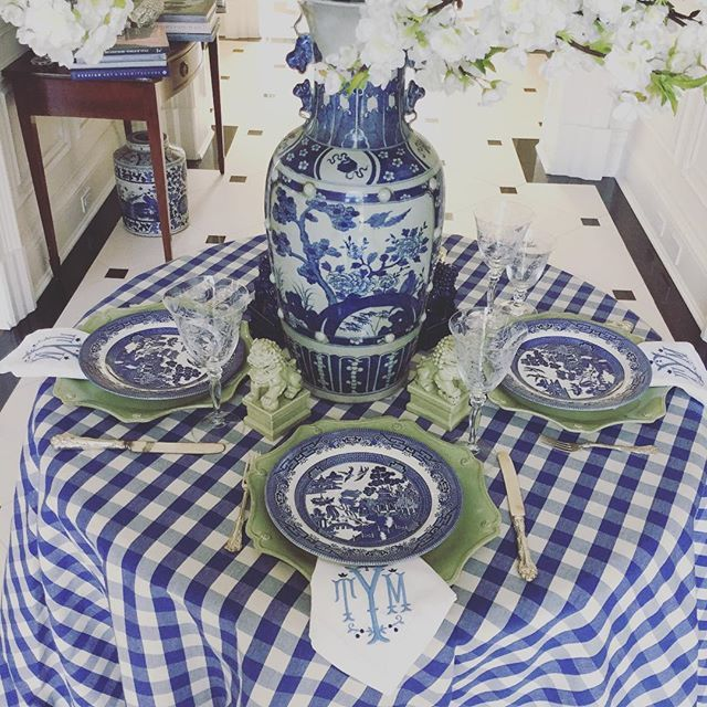 bluewillow and gingham