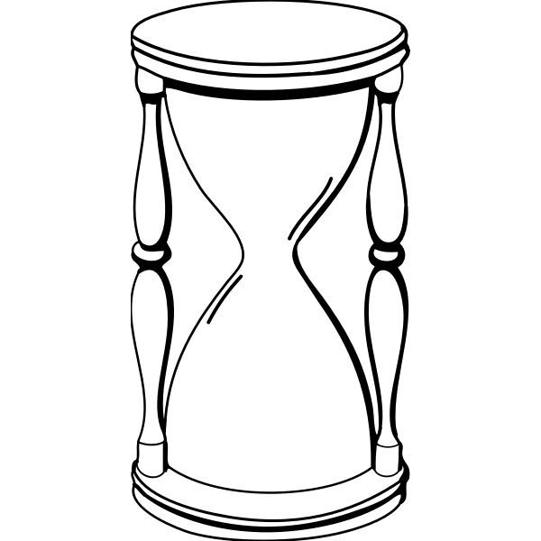 Hourglass Vector Image Free Svg Celestial Art Black And White Drawing Eye Design