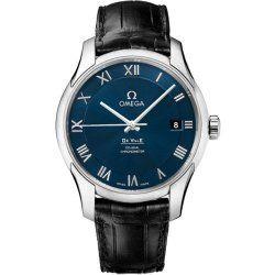 Omega De Ville Blue Dial Black Leather Mens Watch 431.13.41.21.03.001