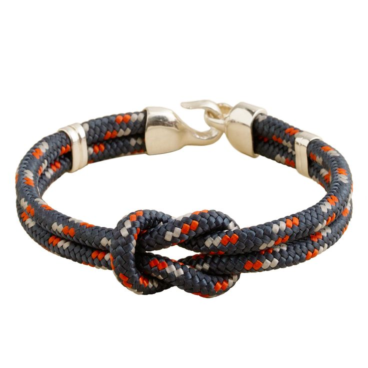 Retro inspired and made completely by hand from a vintage fishhook cast and military-grade woven cord (sourced from an American company that supplies the U.S. Coast Guard), this bracelet adds a rugged utilitarian touch to whatever else you're wearing. Sterling silver, nylon. Length: 7 3/4. USA. Online only.