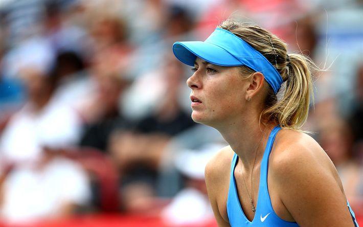 Download wallpapers Maria Sharapova, Russian tennis player, ATP, portrait, beautiful woman, 4k