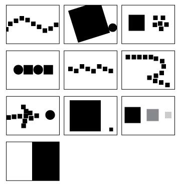 Repetition can create movement. Size and placement influences proportion. Contrast directs the viewer's attention.