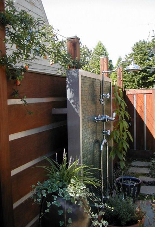 outdoor showernice by the pool or covered by the house