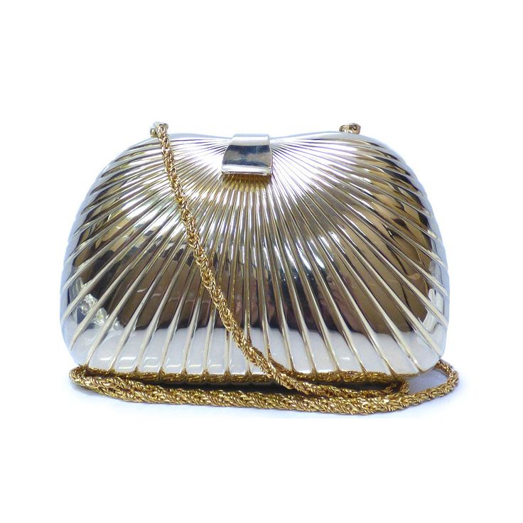 #bally Women's Metal Shoulder Bag Gold