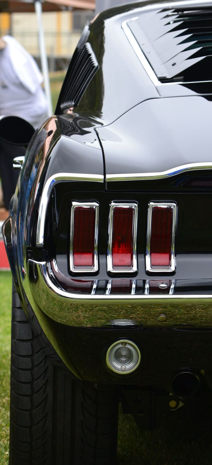 Terra nova hs car show now classic mustang tail lights i think help me out