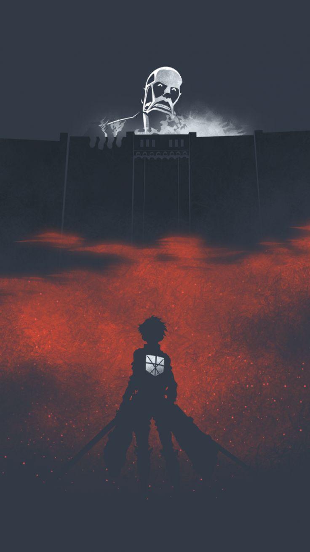 Anime Attack On Titan Colossal Titan Eren Yeager Shingeki No Kyojin Mobile Wallp… – Centerpied