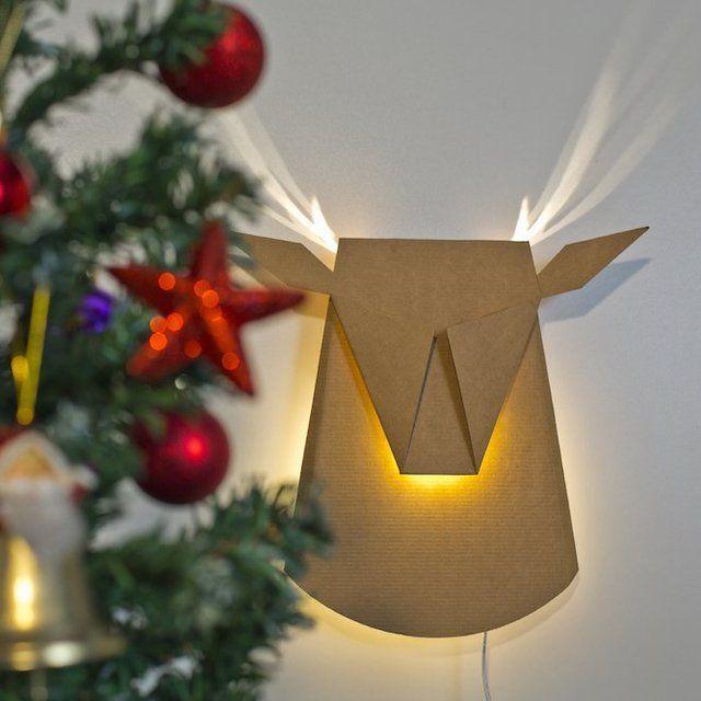 Fancy - Santa's Reindeer Light Fixture by Popup Lighting