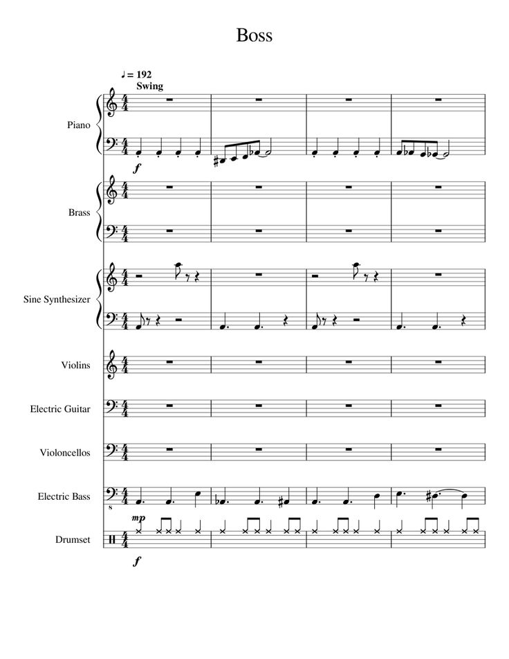 sheet music made by malt boy for 8 parts piano brass sine synthesizer violins electric. Black Bedroom Furniture Sets. Home Design Ideas