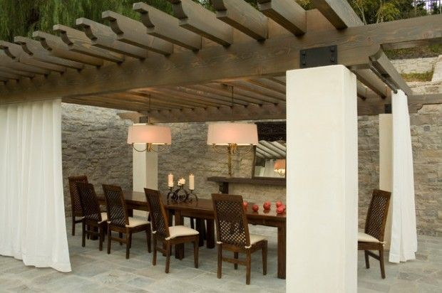 great dining room lighting for outdoors...