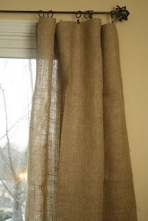 No Sew Burlap Curtains! I Was Wondering How To Make These This Weekend!