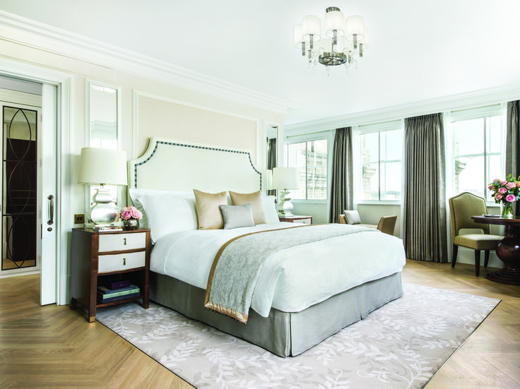 Bespoke lighting created by Chelsom for the guestrooms and suites of The Langham, London