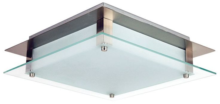 Features E27 BCH Square Surface Mount Modern square 1 or 2 light ceiling light with a brushed chrome trim, frosted glass face with a clear edge and frosted side panels. A truly impressive looking fitting. Suitable for compact fluorescent bulb or energy