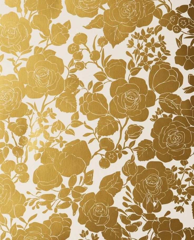 Karla Pruitt for Hygge & West Garden in White and Gold Wallpaper